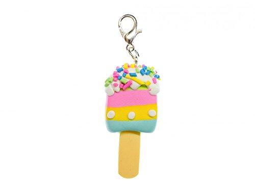 Miniblings Eis am Stiel Charm Zipper Pull Anhänger Bettelanhänger Frucht bunt