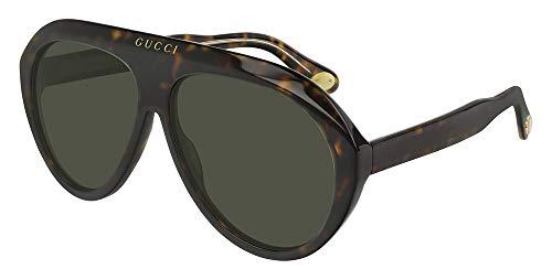 Gucci Sonnenbrillen (GG-0479-S 003) havana dunkel - gold - grau-grün