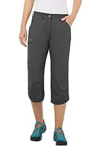 VAUDE Damen Hose Farley Capri Pants IV, Basalt, 34, 03874