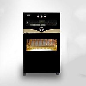 Wärmegeräte Desinfektionsschrank Doppeltür zum Doppeleinsatz, vertikaler Edelstahl-Sideboard-Schrank Küche Hochtemperatur-Desinfektionsschrank (Größe: 419x390x370mm, obere Schichtkapazität 20L, untere