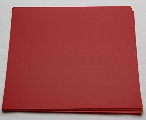 10 Stück rote Registerwände für LP Vinyl Schallplatten Trennwände Registerblatt