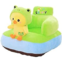 SAKOZI Soft and Rocking Chair Skin Friendly Elephant Shape Baby Supporting Seat Soft Plush Cushion and Chair for Kids/Baby – (Chicky-Green)