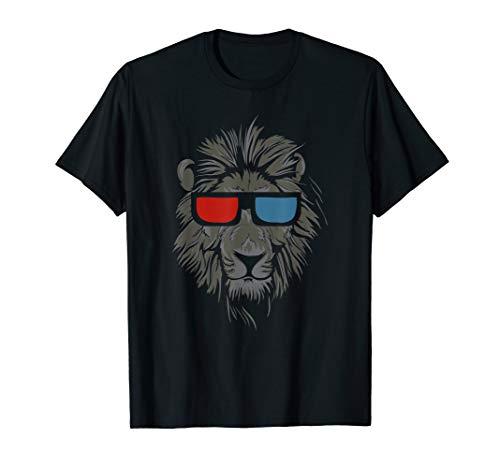 Löwe mit Sonnenbrille T-Shirt I König der Tiere Katze Lion