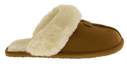 Footwear Studio , Ouvertes à l'arrière femme Marron - Tan Brown Mules