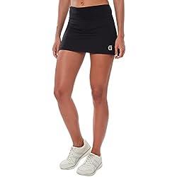 A40Grados Sport & Style Fussion - Falda para mujer, color negro, talla 36