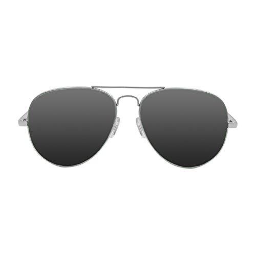 OCEAN SUNGLASSES - Banila aviator - lunettes de soleil en MÃBlackrolltal - Monture : Argent - Verres : FumÃBlackrolle (18110.2)