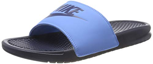 Nike Benassi JDI, Zapatos Playa Piscina Hombre, Negro