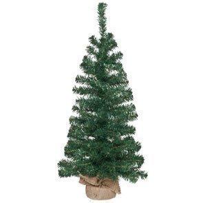 Weihnachtsbaum Tannenbaum künstlich mit Standfuß mit Sackleinen bezogen, Höhe 80cm