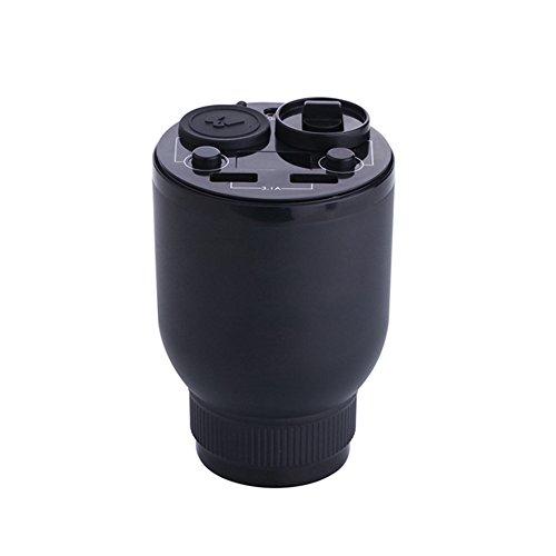 MARCHRED Auto Aromatherapie Cup Ornamente Ultraschall-Luftbefeuchter Aromatherapie Diffusor Bewerben Schlafzimmer Büro Luftreiniger 73 * 110 MM,Black - Wasser-dampf-cup