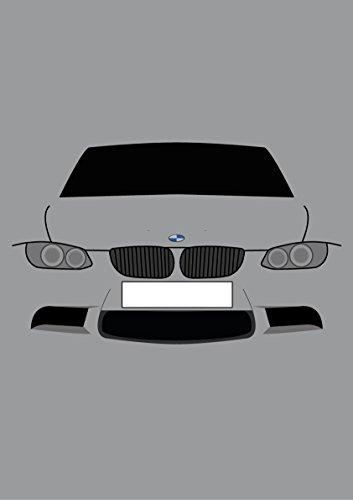 BMW E923Serie Coupe-Retro Motor Company Grußkarte -