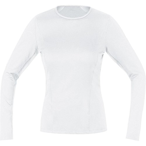 Gore Bike Wear UTSLLA010004 Maglia a maniche lunghe, Intimo Donna, Termica, GORE Selected Fabrics, BASE LAYER Thermo long, Taglia 38, Bianco