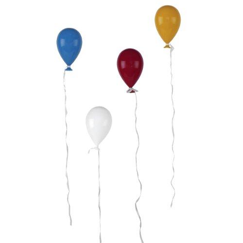Annastore 4 Stück Ballons aus buntem Glas zum Hängen 15 x 9 cm - Glasballons Hängeballons Ballondeko Glasdeko