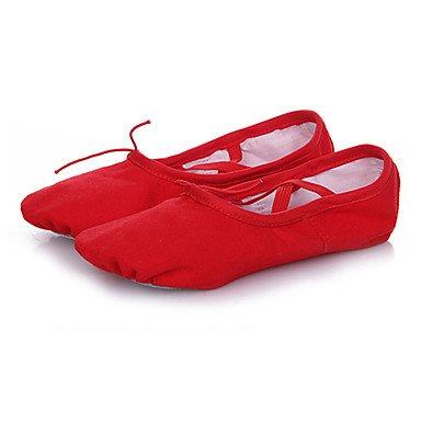 Wuyulunbi@ Donna Ballet Canvas suola piena Sneaker Professional tacco piatto Rosa Rosso Bianco Nero US7.5 / EU38 / UK5.5 / CN38