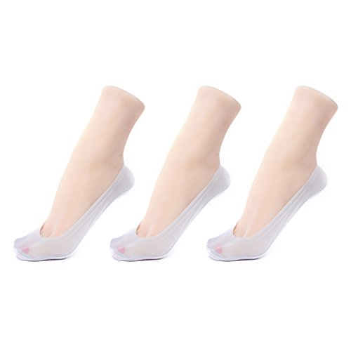 Gather Other Women's No-Show Low Cut Liner Socks with Gel Tab,Pack of 3,Grey (Tab Socken 3pk)