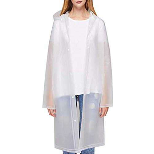 Moonuy Art- und Weiseregenmantel für die Frauen der Erwachsenen Männer Lange Regenbekleidung Modischer normaler umweltfreundlicher mit Kapuze Regenmantel (Jordan Kleid Der Frauen)