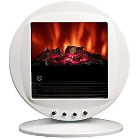 Caminetto elettrico oscillante FIRE BOWL colore Bianco