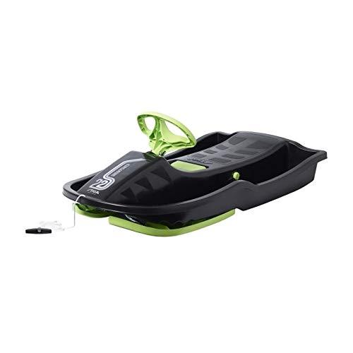 Stiga Kinder Snowpower Steering Sledge, Black/Green, Einheitsgröße