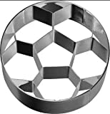 Galletas–Moldes para dulces/galletas Forma de fútbol (pequeño) (6,5cm/Acero...