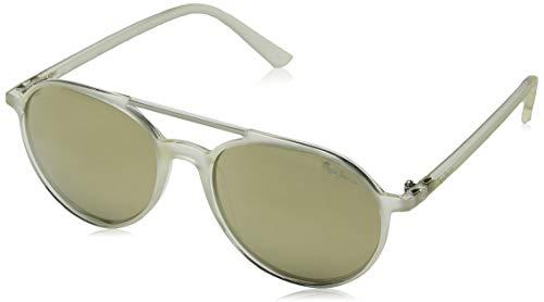 Pepe Jeans Herren Elias Sonnenbrille, Transparent (Clear/Grey), 53.0