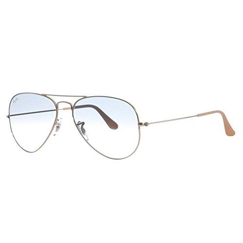 Ray-ban rb3025 aviator occhiali da sole unisex adulto, oro (gold 001/3f), 58 mm