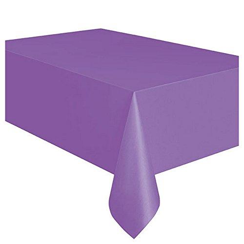 s Tischdecke aus Kunststoff, wiederverwendbar in 19 verschiedenen Farben (Einheitsgröße) (Violett) ()