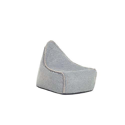 Beliani Sitzsack grau Linen Drop