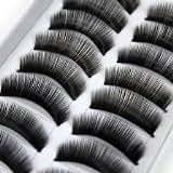 BOO112 - 10 Pairs of Natural & Regular Long False Eyelashes Eye Lashes by Boolavard