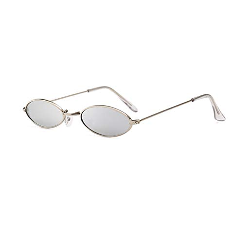 ZHAO YELONG Hip Hop Sonnenbrille Persönlichkeit Wassertropfen Form Oval Metallrahmen Sonnenbrille (Color : Gray)