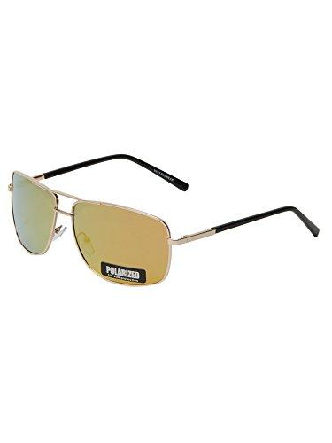 Vast Polar Vision Polarized Wayfarer Unisex Sunglasses (Polo226 Gold 62 Mirror)