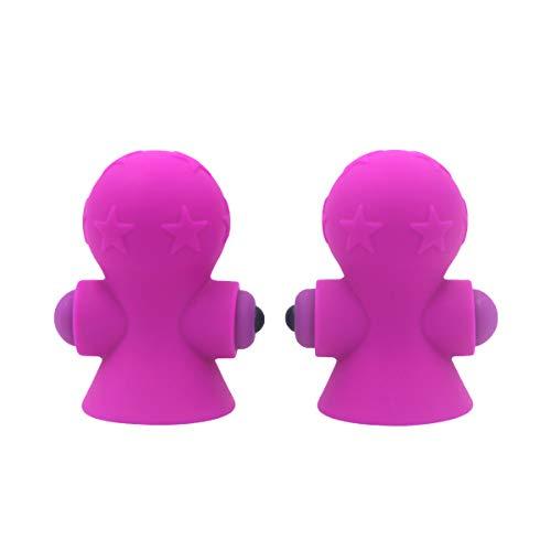 13df1f2c8738 HEALLILY 1 par succionador de pezones de succión mamario succionador  clitorial cuerpo succión masajeador coqueteo de silicona para mujeres  (púrpura)