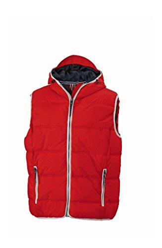 Herren Segelweste Bootsweste Outdoor Weste Red/White