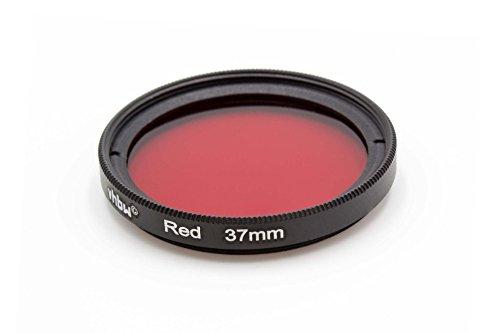 vhbw Universal Farbfilter 37mm rot für Kamera Objektiv Canon, Casio, Pentax, Olympus, Panasonic, Sony, Nikon, Fuji/Fujifilm - Pentax Kamera-objektiv Für