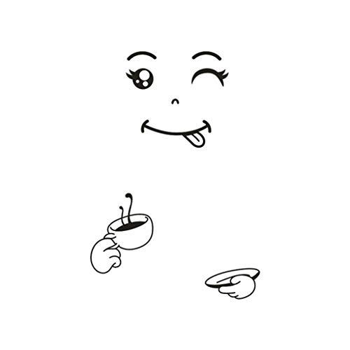 Wc-asdcc Cartoon Kühlschrank Aufkleber Smiley Gefrierschrank Aufkleber Dekorative Cartoon Kühlschrank Aufkleber Sonnenbrille Smiley-Gesichter Kühlschrank Aufkleber. D
