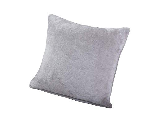 Fodere per cuscini spessi, cuscino per cuscini a colori puri camera da letto divano auto, non compresi cuscini, light gray, 2pcs cushion cover(no inner)