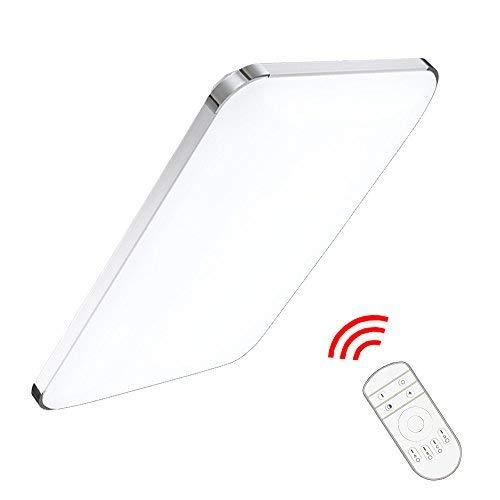 VINGO® 48W LED Deckenleuchte Deckenlampe Badlampe Leuchte mit Fernbedienung Schlafzimmer Dimmbar -