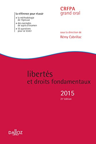 Liberts et droits fondamentaux 2015 - 21e d.