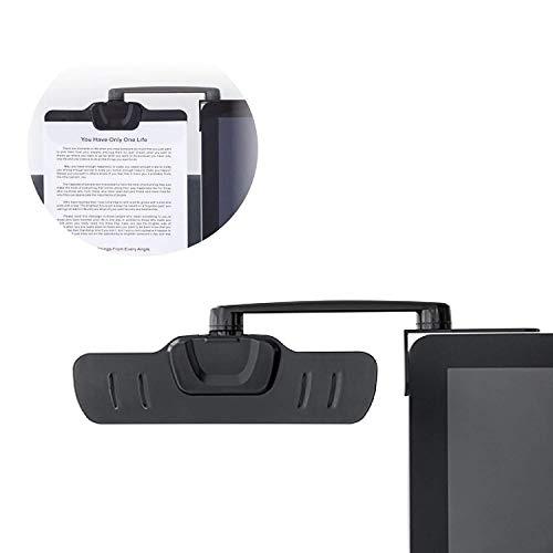 Allcam Over Monitor Paper Clip soporte para pegar en el monitor. Se puede plegar. Rota 360º