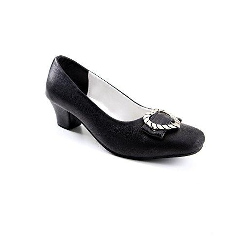 ALMBOCK Dirndlschuh für Damen | Trachten Schuhe Damen schwarz | Trachtenschuhe Damen mit Absatz | Trachten Schuhe Leder - Trachtenschuhe Damen 38