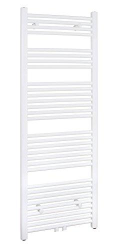 SixBros. R18 Badheizkörper (1500 x 500 mm, 731 Watt) - Heizkörper mit Handtuchhalter für das Bad - pulverbeschichtet - weiß