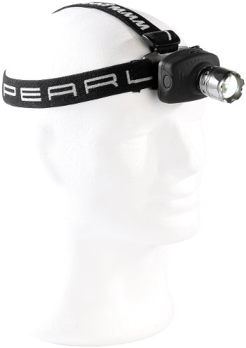 """PEARL Kopfleuchte: LED-Stirnlampe\""""IPX-4000 Zoom\"""" mit 1 Watt Premium-LED von OSRAM (Headlamp)"""