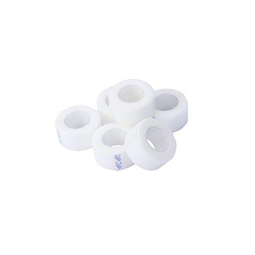 HEALLILY Micropore Tape Pressure Medical Tape Selbstklebender Verband Clear Surgical Tape Erste-Hilfe-Zubehör 6 Rollen -