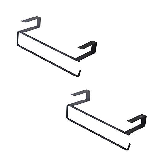 LQ-Wall shelf Schmiedeeisen Küchenpapier Handtuchhalter Schrank Lagerregal, Geeignet Für Desktop Schmutz Rack Metall Kleiderschrank Finishing Wandbehang (Color : Black, Size : 24x7x7.5CM) -