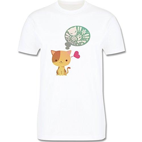 Katzen - Süße Katze Mordlust - Herren Premium T-Shirt Weiß
