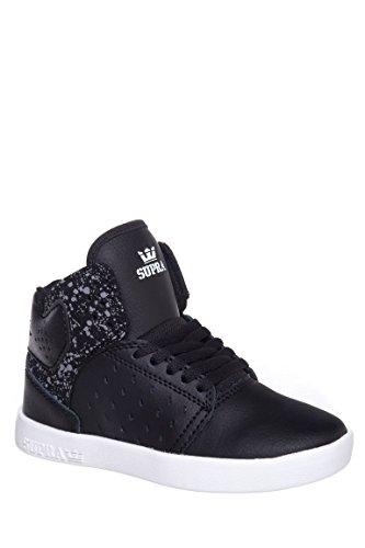 Supra Atom Black White Youths Trainers - S91017K Black / speckle - white