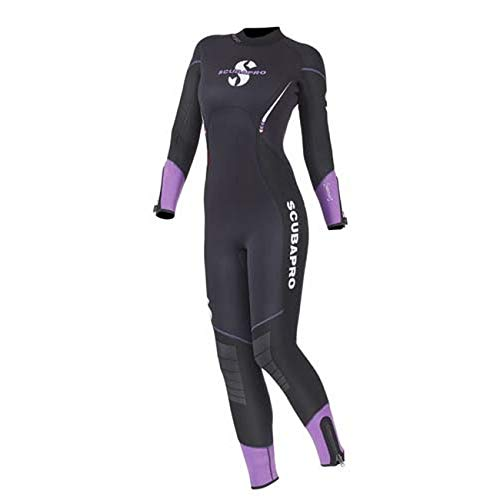 SCUBAPRO Sport Steamer 5mm Backzip Damen Neoprenanzug, schwarz/violett, Medium