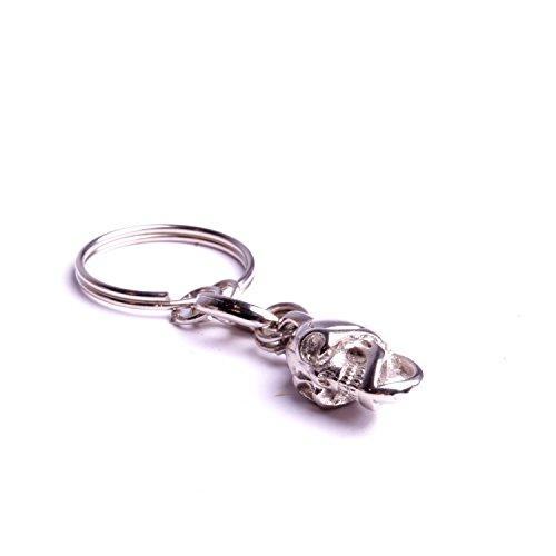 Metall Schlüsselanhänger Schlüsselanhänger mit Schlüsselring Biker Zubehör handgefertigt von By Mode - Halloween Zubehör Biker