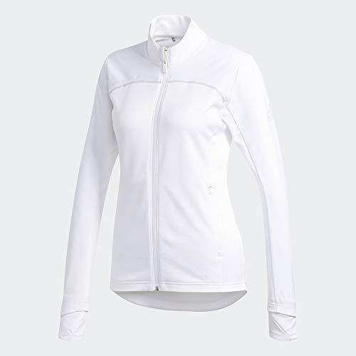 Adidias Icon Jacke I Damen I Golfjacke I Wasserabweisend I Reißverschluss I Stehkragen Weiß XL