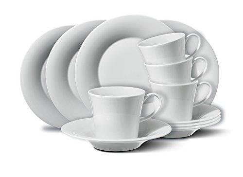 KPM Berlin Breakfast-Set, Porzellan, Weiß, 33,5 x 33,5 x 14 cm, 12-teilig