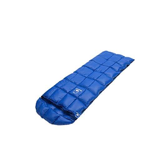 QDDIAOC Schlafsack Winter,Blue Winter Frühling Kalte Wetter Nach Weiße Gänsedaunen Kompression Schlafsack Sack Quilt Mit Haube Für Backpacking Camping Wandern, Füllmenge (400 G)