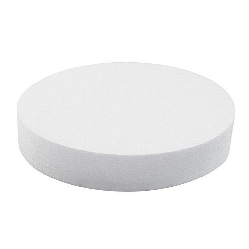 maDDma ® 1 Styropor Tortenboden Sockel Rohling, weiß, Verschiedene Größen - DIY, Größe:25cm